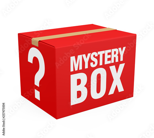 Mystery Box Isolated Fototapeta