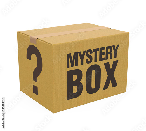 Obraz na płótnie Mystery Box Isolated