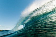 Breaking Wave, Rarotonga, Cook Islands.