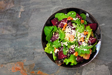 Healthy Salad With Beets, Mixe...