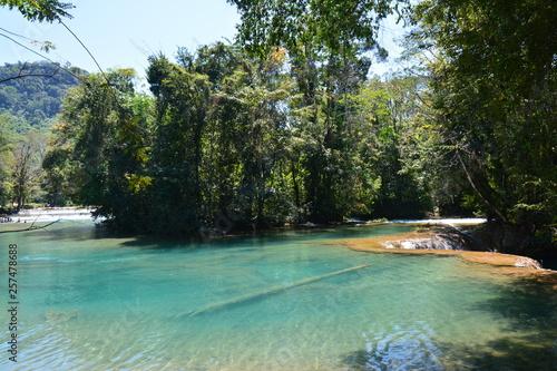 Aluminium Prints Bali Cascade Agua Azul Chiapas Mexique - Agua Azul Waterfall Chiapas Mexico