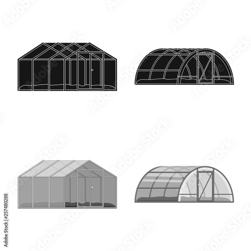 Fotografía Isolated object of greenhouse and plant symbol