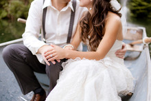 Bride And Groom In Row Boat