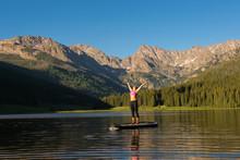 Stand Up Paddle Yoga At Piney Lake