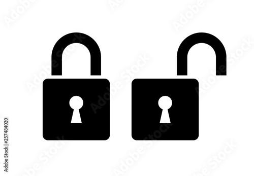 Obraz Open and closed lock icon - fototapety do salonu