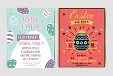 Set Of Easter Egg Hunt Invitat...