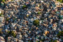 Aerial View Of Favela Da Rocinha, Largest Slum In Brazil