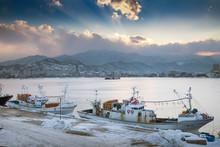 Fishing Boats In Harbor Of Sok...