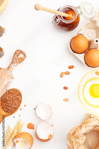 Fotografie, Obraz  A set of kitchen items for baking sweet flour products