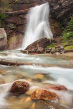 Baring Falls In Glacier Nation...