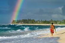A Rainbow Over Rocky Point On ...