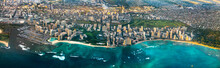 Aerial View Of City Near Sea