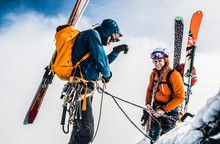 Two Skiers, Vysoka, Tatra Moun...