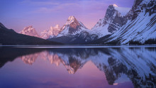 Mountains Reflected In Bow Lak...