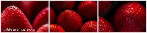 Fotografia Erdbeeren Triptychon