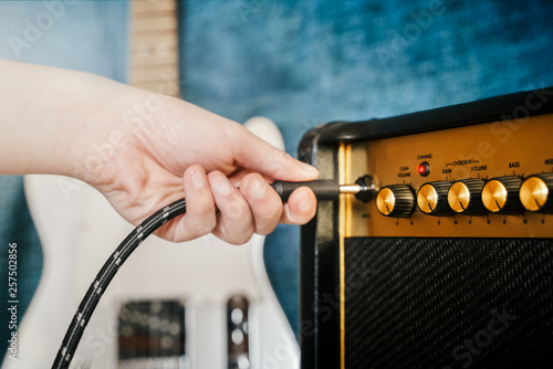 Foto Guitar electric amplifier