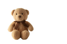 Toy Teddy Isolated On White Ba...