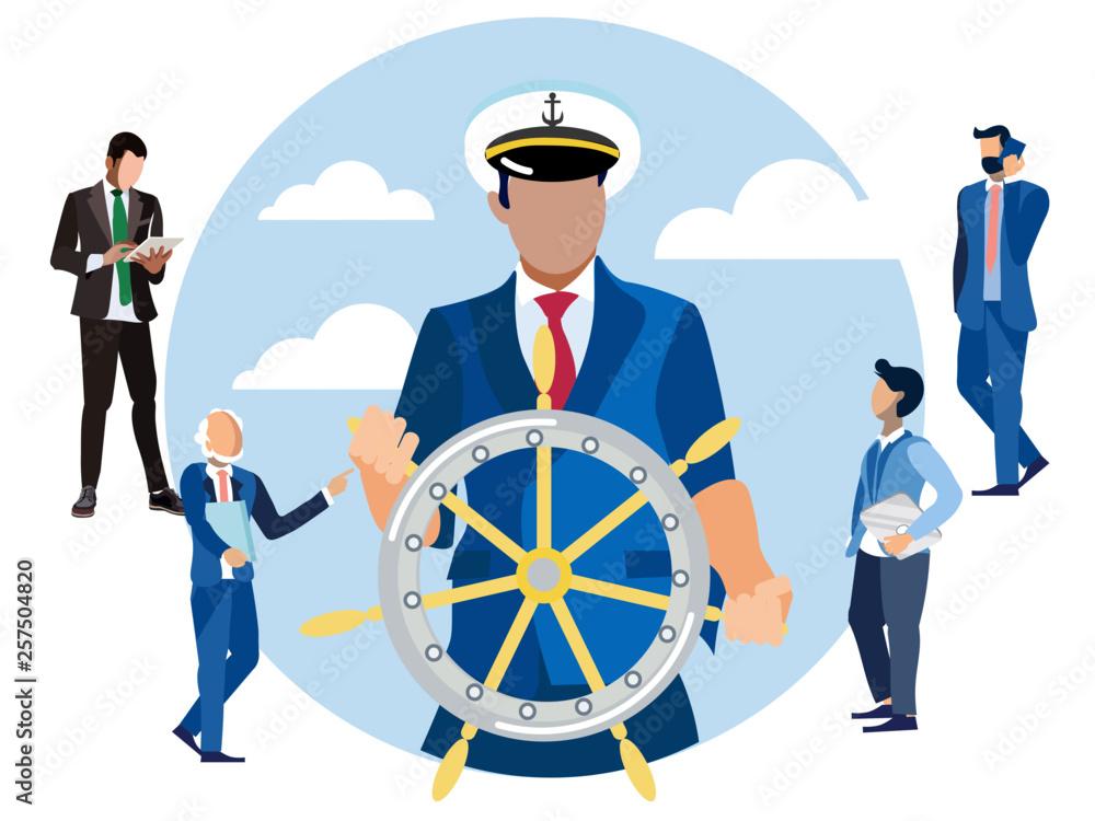 Fotografía Captain at the helm, head of finance