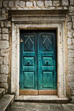 A Beautiful Old Door In Dubrovnik, Croatia.