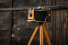 An Old Large Format Camera On ...