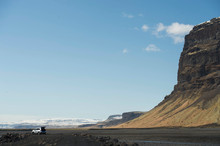 Car Parked In Mountains, Iceland
