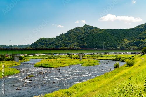 川と山と青空 無人 #257515688