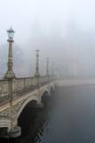 Schwerin Castle in misty weather - 257522662