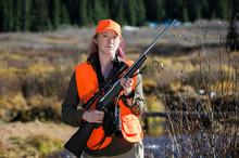 Portrait Of Female Hunter