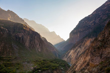 Early Morning Sunshine In The Colca Canyon, Peru