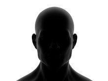 Human Man Head Isolated On White 3D Rendering