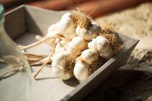 Close Up Of Garlic In?restaurant