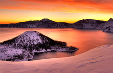 Winter Sunrise Crater Lake Nat...