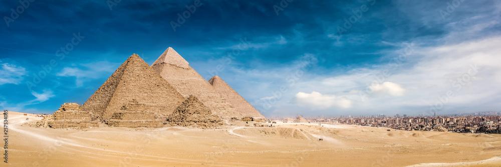 Fototapeta Panorama of the Great Pyramids of Giza, Egypt