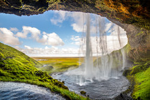 View Of Seljalandsfoss One Of Most Stunning Waterfalls In Iceland