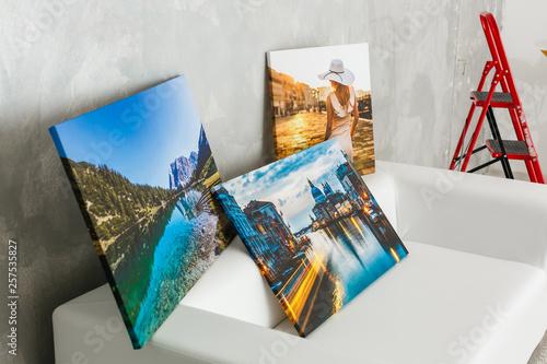 Fototapeta Home interior poster or painting canvas design template obraz