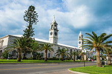 Bermuda, Clock Tower And Shopping Mall In The Royal Naval Dockyard, Old Storehouse