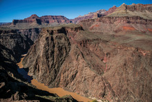 Colorado River Flowing Through Grand Canyon, Arizona, USA