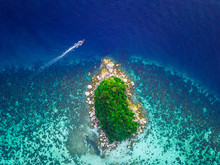Aerial View Of Tropical Island...