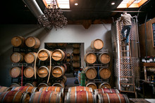 Winemaker Working In Winery
