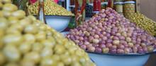 Olives At Market Stall, Marrakesh, Morocco