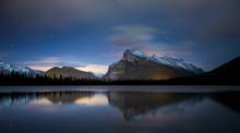 Two Jack Lake At Night, Banff National Park, Alberta, Canada