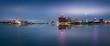 Leinwanddruck Bild - DETROIT SKYLINE by night and lights