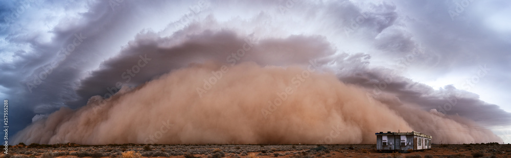 Fototapeta Dust storm panorama