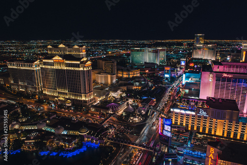 Las Vegas Strip from Eiffel Tower Wallpaper Mural