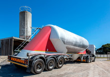 Cement Delivery Truck With Mul...