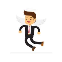 Angel Businessman Character
