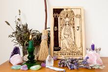 High Priestess From The Tarot ...