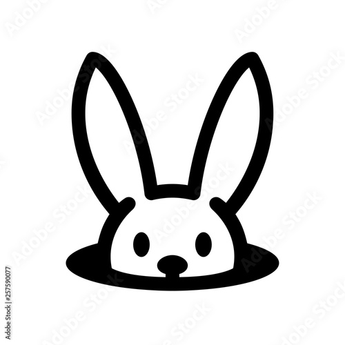 Photo Easter bunny icon