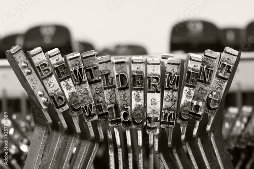 Photo the word   BEWILDERMENT with old typwriter keys