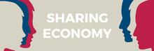 Sharing Economy Concept Illustration. Human Head Vector Icon